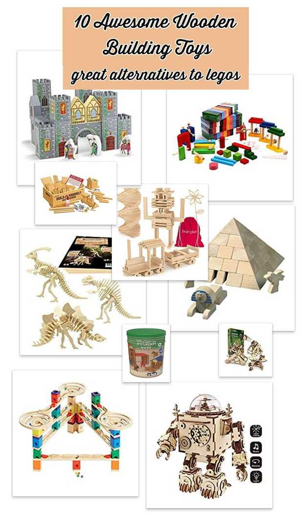 Wooden Building toys for kids of all ages (toddlers to teens) - instead of buying legos